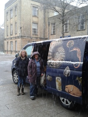 Van in the snow