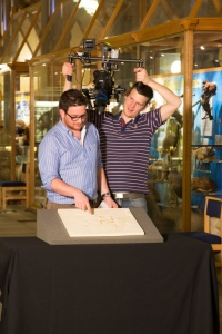 Ben Garrod filming with the Archaeopteryx cast