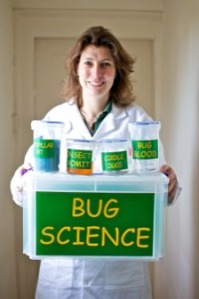 Sally-Ann Spence and her Minibeast Mayhem Bug Science kit