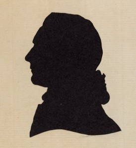 A silhouette of William Jones