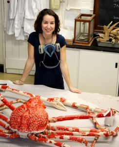Conservator Bethany with the finished Spider Crab