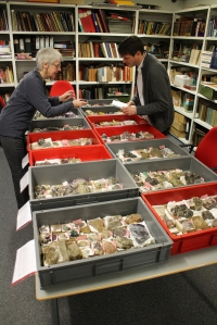 Monica and Neil hard at work in the collections