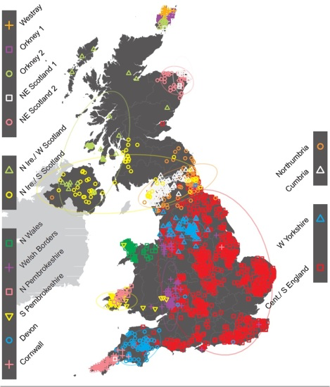A genetic map of Britain created by the People of the British Isles study