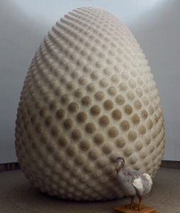 Here I am with Peter Randall-Page's Seed sculpture. Mmm, rather egg-like...
