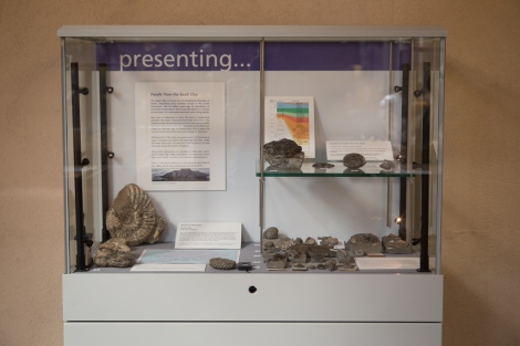 The Presenting... display, near the entrance to the Museum