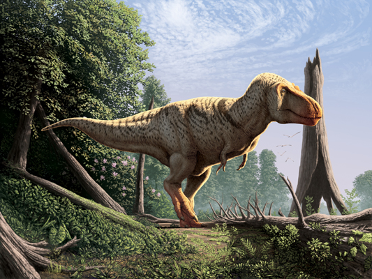 This up-to-the-minute T. rex has feathers!