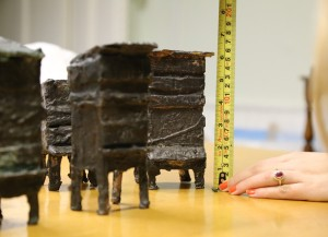 Measuring 'Hives' bronze sculptures