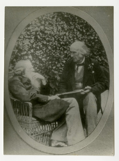 'Mr Ruskin & his old friend at Brantwood' by Sarah Angelina Acland, 1893