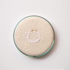 Gold wedding ring (3) Crochet, by Elin Thomas