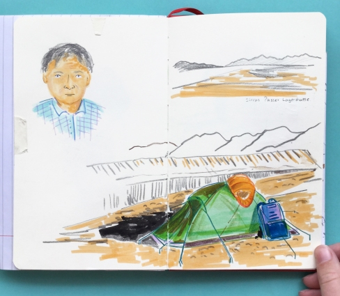 How I would have loved to have been on this trip! Drawings of Professor Paul Smith's fieldwork to Greenland.