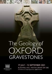 The Geology of Oxford Gravestones exhibition poster